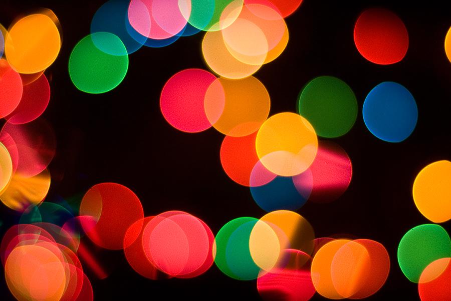 Abstract holiday lights display