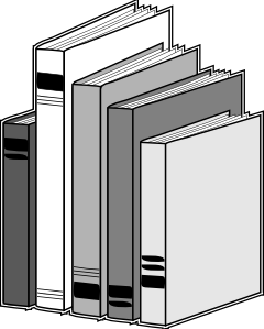 Books lined on a shelf