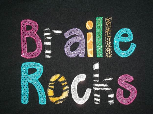 Braille Rocks t-shirt design