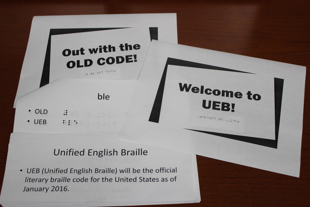 UEB test booklets