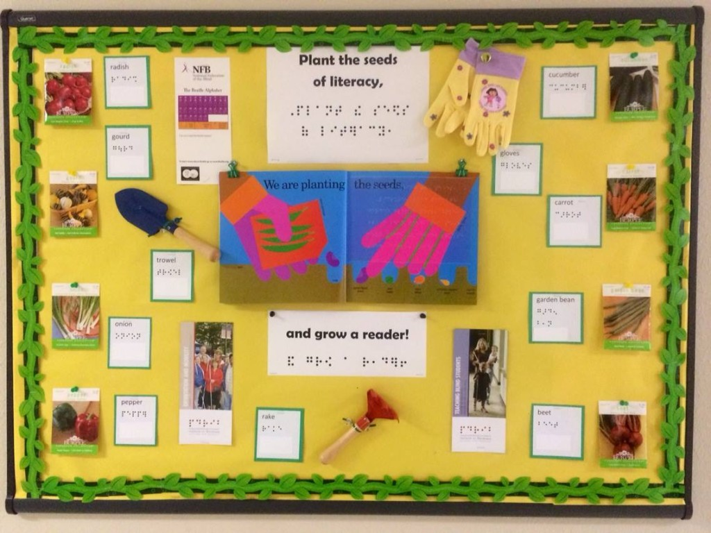 Plant the seeds of literacy, and grow a reader with this bulletin board!