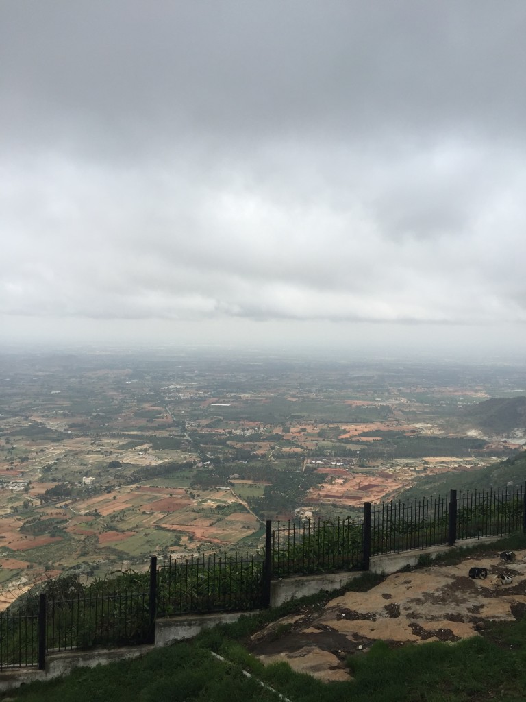 Scenic picture of Nandi Hills, an ancient fortress in southern India